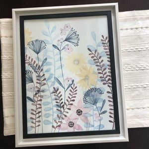 Pretty Soft Botanical Flower Wall Art Framed Print